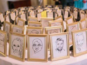 свадебные конкурсы фото группового шаржа