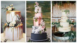 каким должен быть свадебный торт в 2018 году коллаж